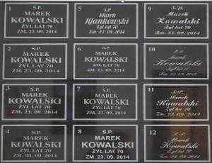 liternictwo zakład kamieniarski warszawa kamyczek