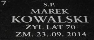 Wypis na nagrobki marek kowalski czcionka