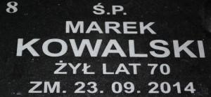 Wypis na nagrobki marek kowalski