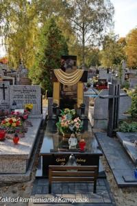 Cmentarz bródnowski nagrobki granitowe szwed