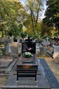 Cmentarz bródnowski warszawa nagrobek granitowy
