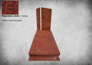 Nagrobek granitowy warszwa granit wanga