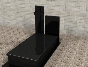 Nagrobki warszawa granitowe projekt 3d