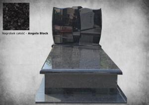 Nagrobki zakład kamieniarski warszawa kamyczek Angola black