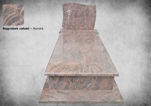 Nagrobek granit aurora zakład kamieniarski kamyczek