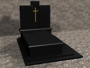 Projekt 3d nagrobka trzy tablice zakład kamieniarski warszawa