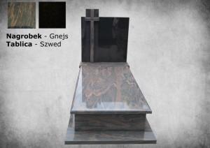 Nagrobek granit szwedzki gnejs zakład kamieniarski warszawa